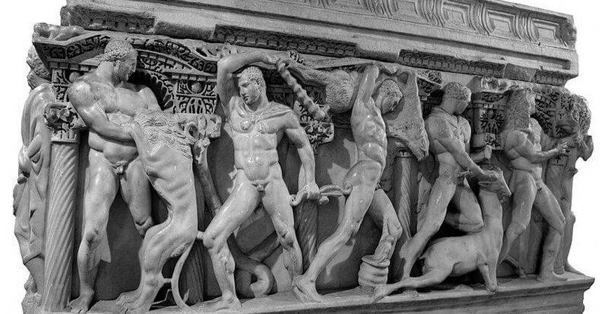 The Heracles Sarcophagus In Konya Turkey